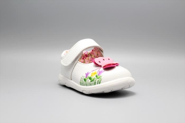 Pantofi alb ivoire cu bareta Happy Bee 19-24EU fluturas 2