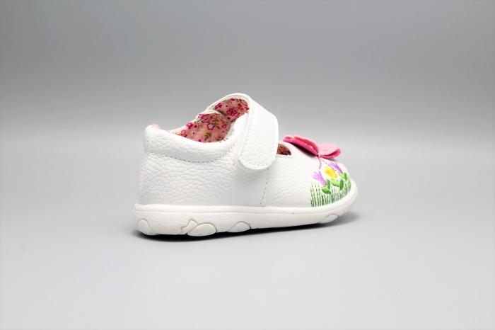 Pantofi alb ivoire cu bareta Happy Bee 19-24EU fluturas 3