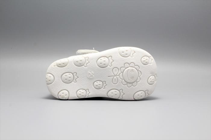 Pantofi alb ivoire cu bareta Happy Bee 19-24EU fluturas 6