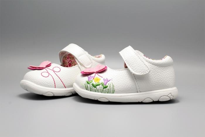 Pantofi alb ivoire cu bareta Happy Bee 19-24EU fluturas 4