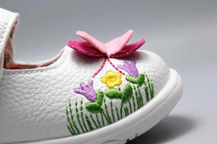 Pantofi alb ivoire cu bareta Happy Bee 19-24EU fluturas 5