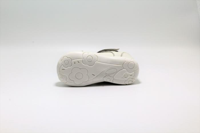 Pantofi fete albi din piele, Happy Bee ShineyStar, marimi 19-24 EU 4