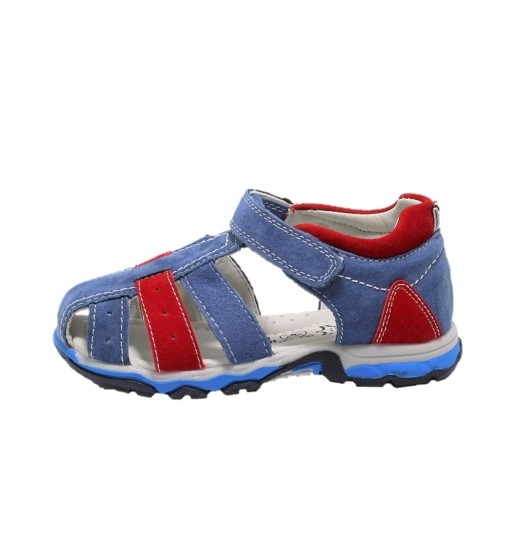 Sandale baieti din piele, HappyBee Denim Blue/Red, marimi 26-31 EU 0