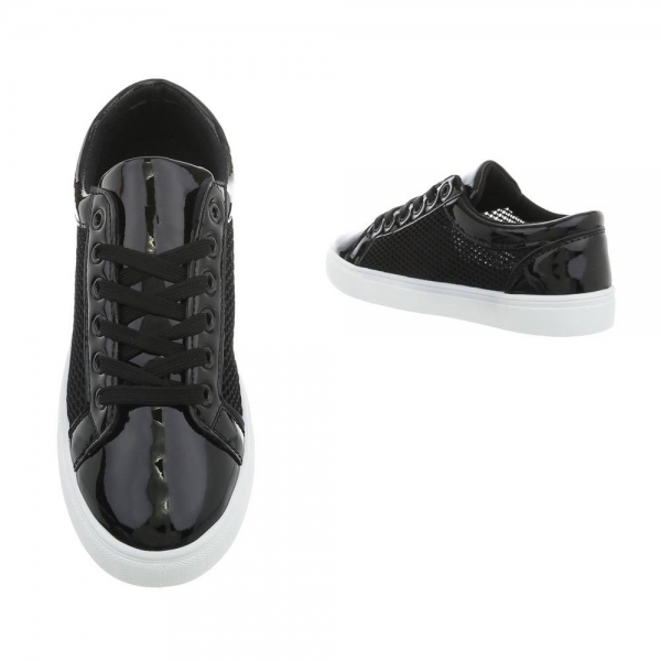 Pantof negru timp liber/leisure de vara pentru femei