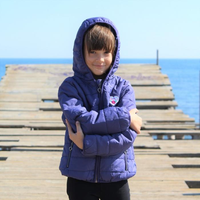 Jacheta fete Little Marcel, model Preppy Rock, 3-14 ani, culoare Bleu Nuit 4
