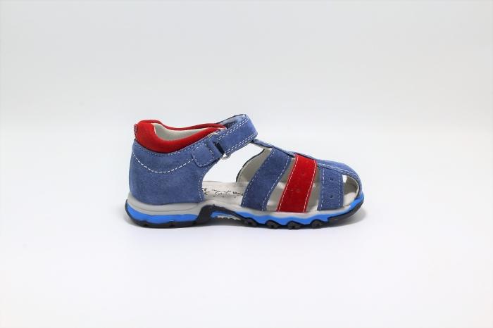 Sandale baieti din piele, HappyBee Denim Blue/Red, marimi 26-31 EU 1