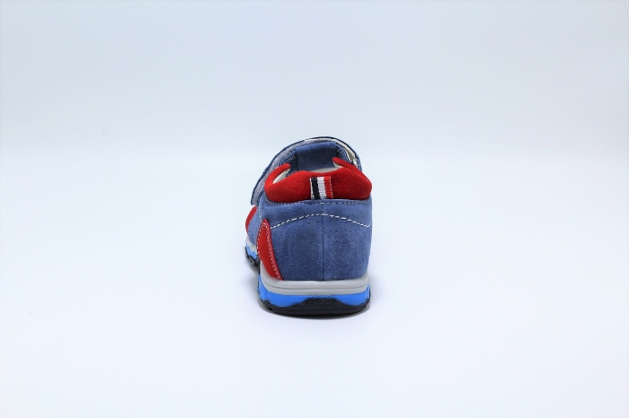 Sandale baieti din piele, HappyBee Denim Blue/Red, marimi 26-31 EU 4