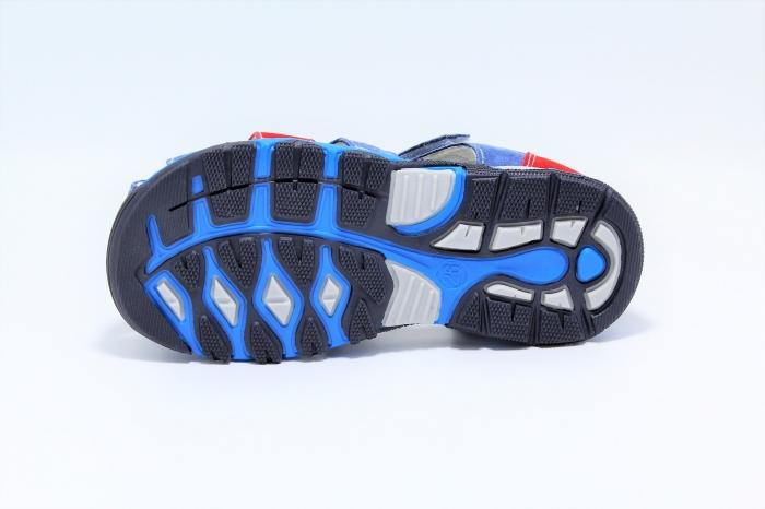 Sandale baieti din piele, HappyBee Denim Blue/Red, marimi 26-31 EU 6