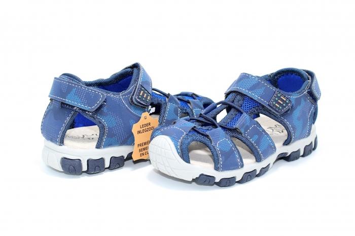 Sandale piele Navy 5